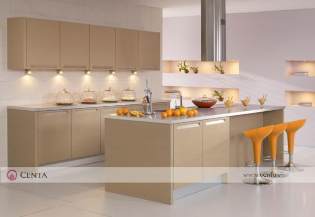 tủ bếp bàn đảo acrylic máy hút quạt hút bếp đẹp