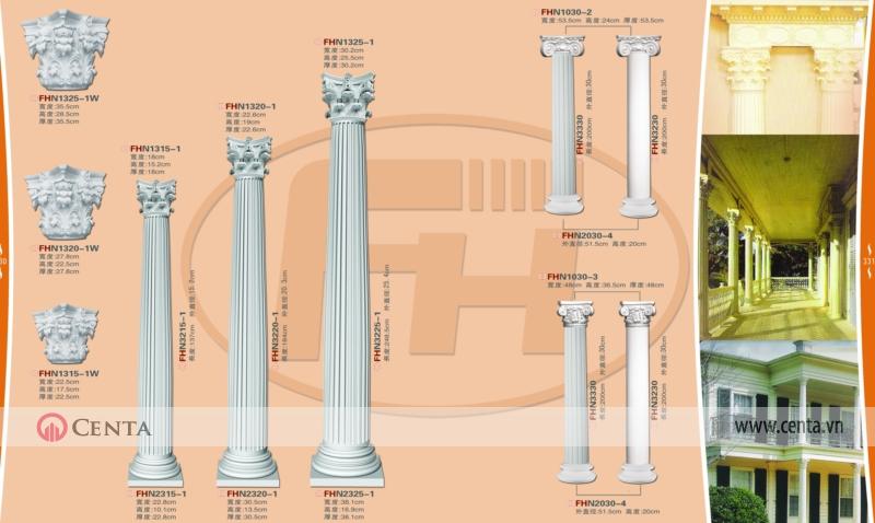 cột pu tân cổ điển thiết kế nội thất
