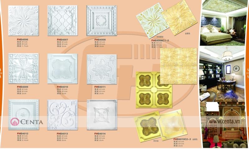 Mâm trần pu - mẫu mâm trần vuông trang trí nội thất tân cổ điển