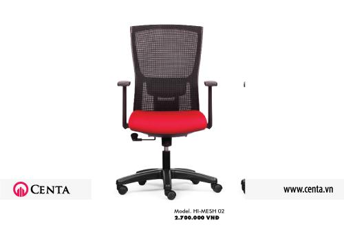 Ghế văn phòng dùng cho thiết kế nội thất màu đen đỏ vai vuông bánh xe