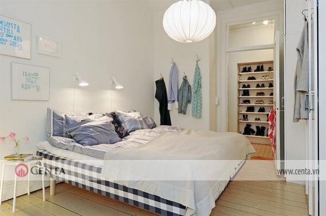 Phòng ngủ chung cư phong cách Bắc Âu