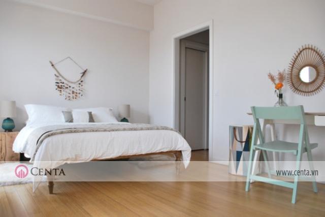 phòng ngủ Bắc Âu gam màu trắng
