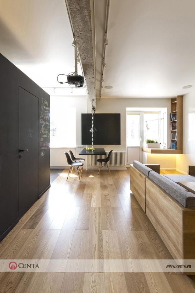 Kết hợp không gian cho căn hộ diện tích nhỏ với nội thất thông minh