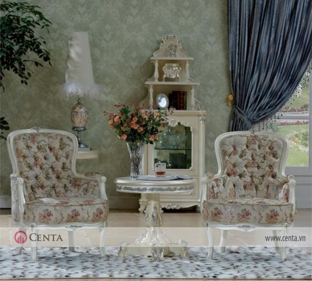 Không gian sinh hoạt chung thường rộng rãi bố trí bàn ghế uống trà