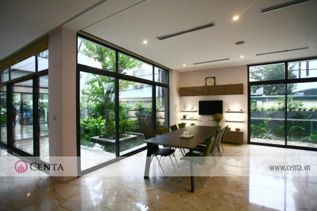 Thiết kế nội thất phòng ăn cho nhà biệt thự đẹp