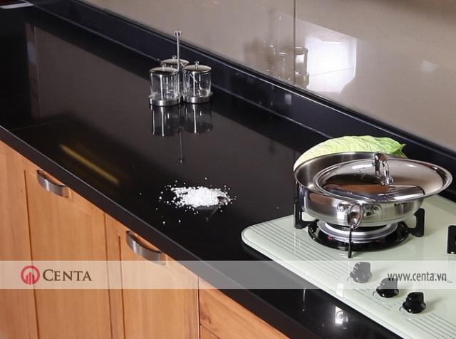 Mặt bàn bếp sử dụng đá nhân tạo solid surface Corian