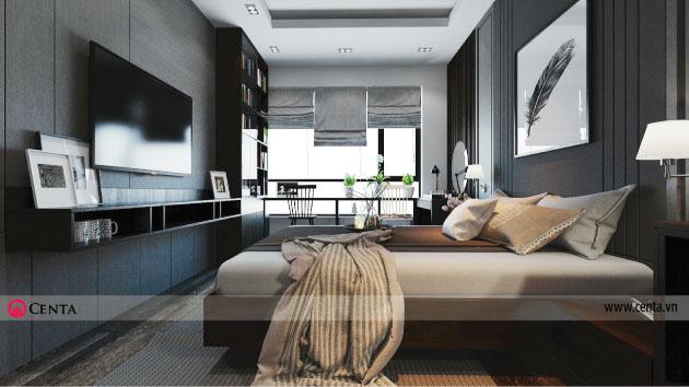 Thiết kế phòng ngủ biệt thự Sao Biển Vinhomes ocean park