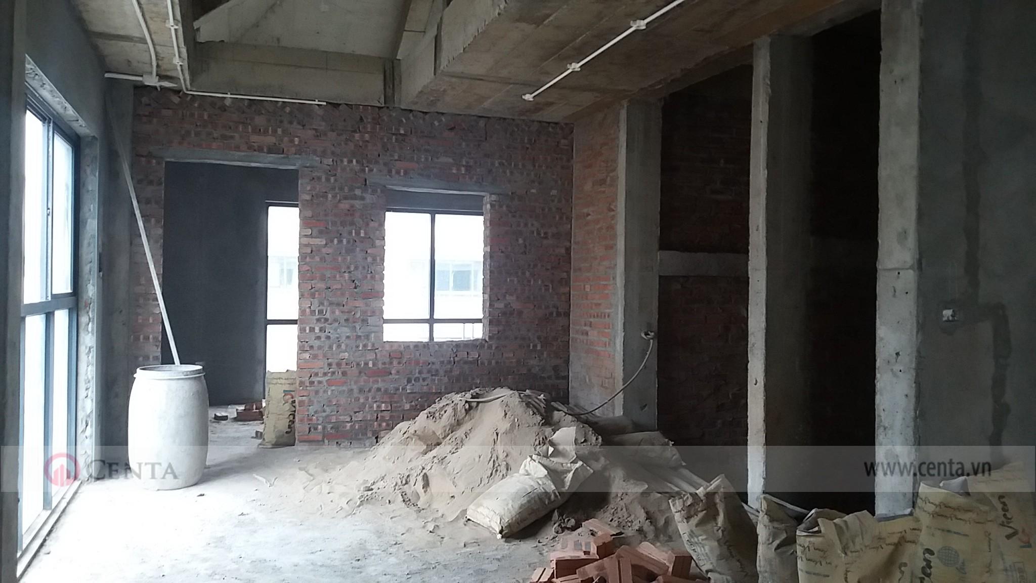 Hiện trạng chuẩn bị thi công hoàn thiện xây dựng biệt thự