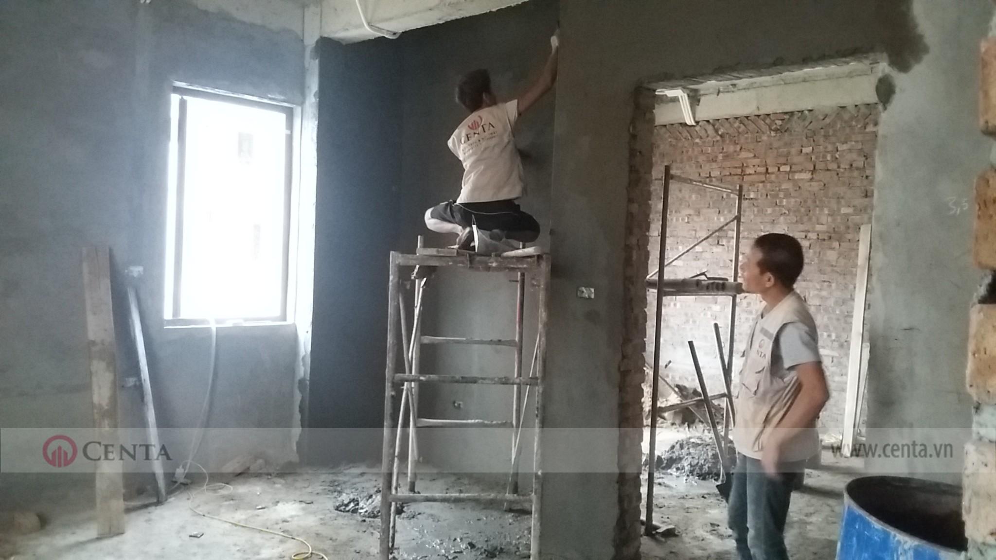 kiểm tra giám sát thi công hoàn thiện hạng mục nề tường xây đẹp biệt thự