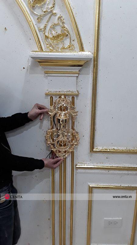 Thợ dát vàng phào chỉ pu cho tường tân cổ điển biệt thự