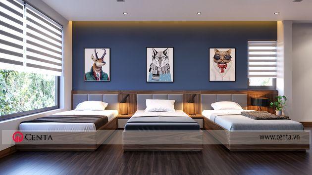 Thiết kế phòng ngủ con biệt thự nhà đẹp Vinhomes