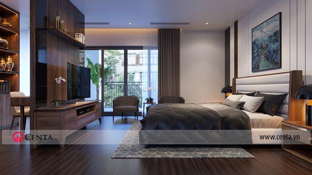 Thiết kế phòng ngủ master biệt thự Ngọc Trai Vinhomes Ocean park