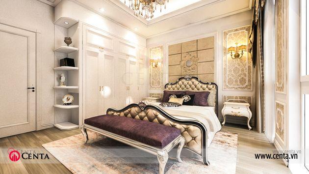 Thiết kế nhà liền kề Louis City thiết kế phòng ngủ ông bà