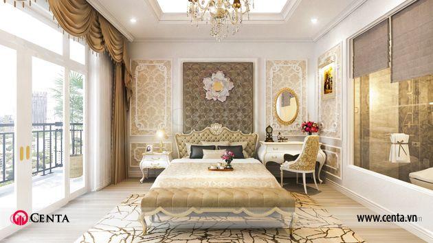 Thiết kế nhà liền kề Louis City thiết kế tầng 3 phòng ngủ master