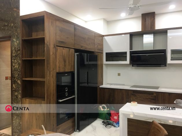 Lắp đặt nội thất phòng bếp biệt thự