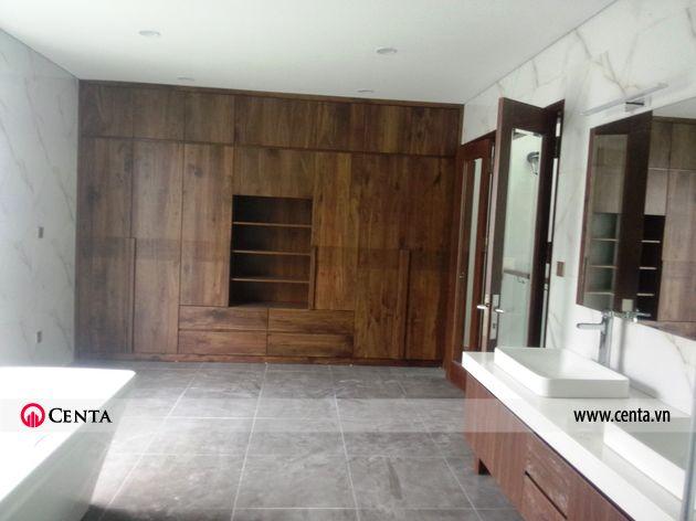 Lắp đặt nội thất phòng WC master biệt thự