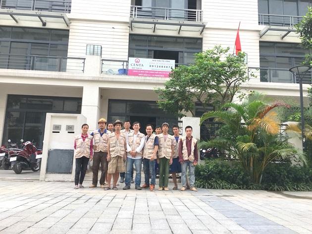 đội ngũ thi công CENTA