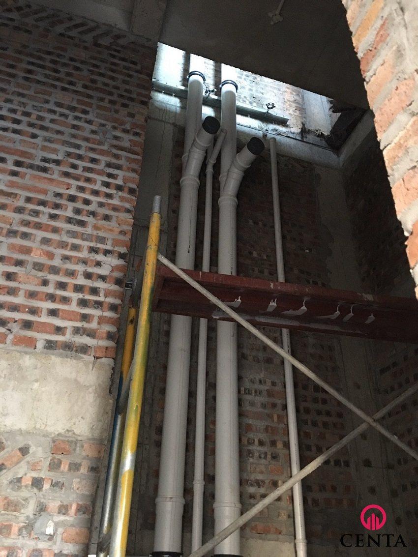 Quy cách lắp đặt đường ống thoát nước Rehau tại hộp kỹ thuật - Tiêu chuẩn thi công biệt thự