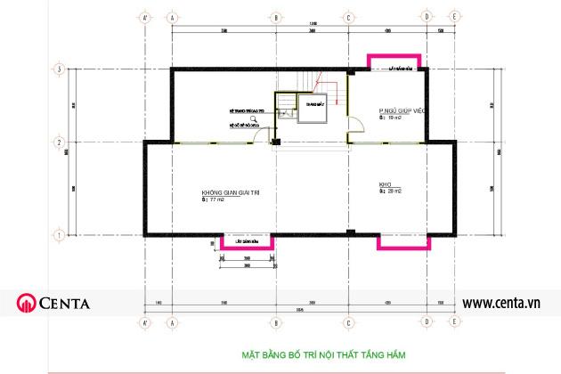Hình ảnh bản vẽ chi tiết cùng phối cảnh thiết kế nội thất tân cổ điển biệt thự