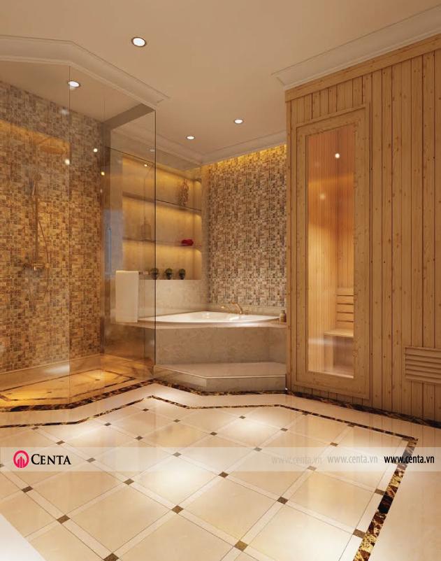 nội thất tân cổ điển phòng tắm - biệt thự vinhome
