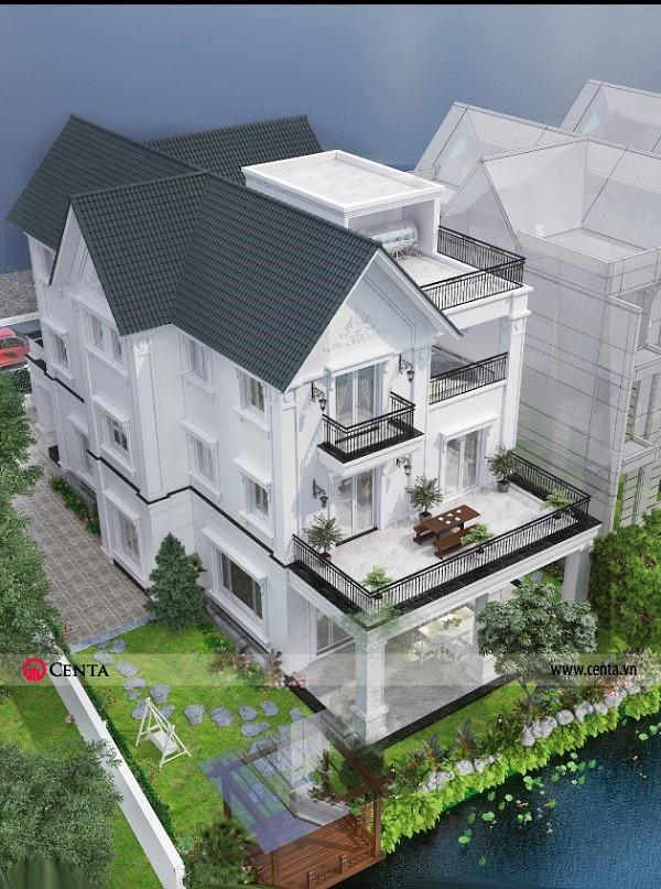 Mẫu thiết kế biệt thự kiểu Pháp đẹp 3 tầng