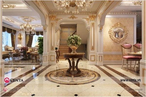 Đặc điểm của phong cách thiết kế nội thất tân cổ điển Biệt thự
