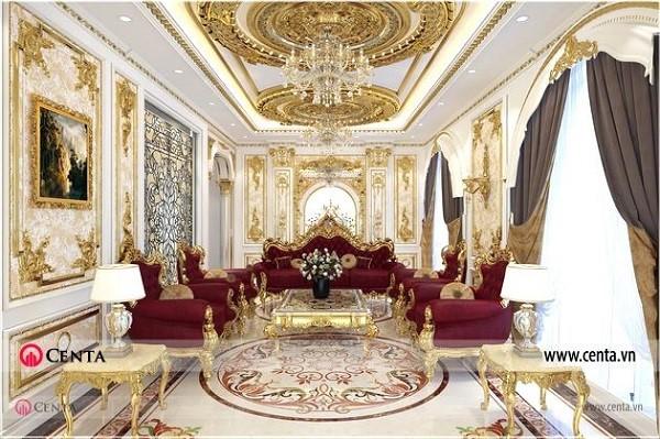 Một số đặc trưng tiêu biểu phong cách thiết kế nội thất tân cổ điển biệt thự