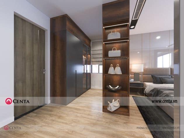 Phối cảnh phòng ngủ master - Thiết kế nội thất chung cư Ngoại Giao Đoàn