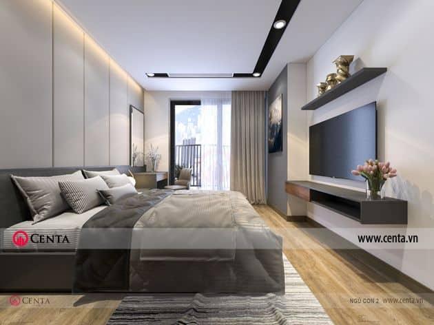 Thiết kế phòng ngủ con 1 chung cư hiện đại