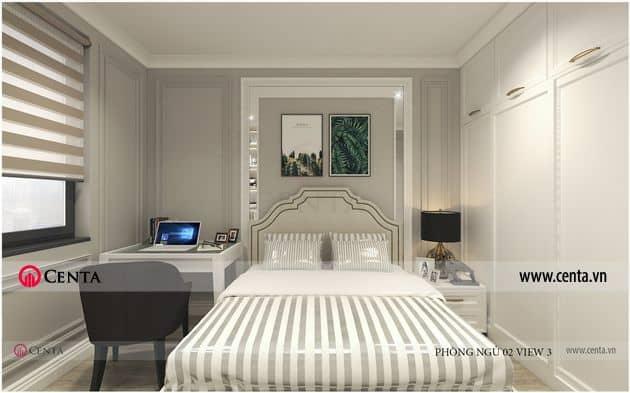 Thiết kế Nội thất Phòng ngủ - Căn hộ Vinhomes Ocean Park.