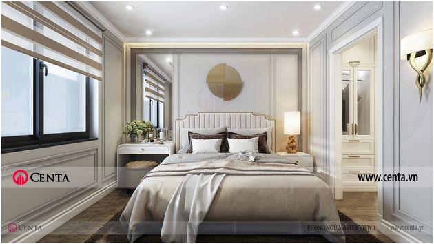 Thiết kế Nội thất Phòng ngủ master - Căn hộ Vinhomes Ocean Park.