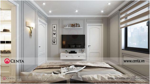 thiết kế thi công nội thất phòng ngủ tân cổ điển pandora