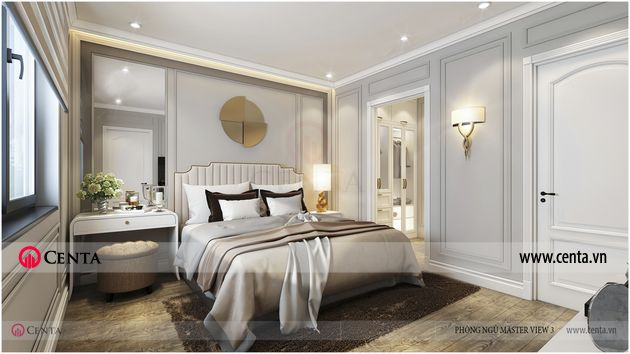 Căn hộ tân cổ điển 3 phòng ngủ chung cư pandora