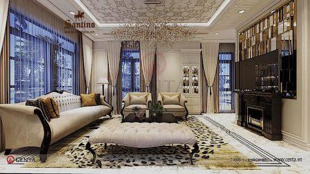 Thiết kế nội thất biệt thự Vinhomes Ocean Park