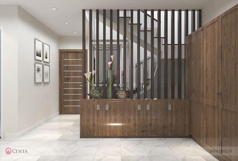Vách gỗ cầu thang tủ áo tủ để đồ