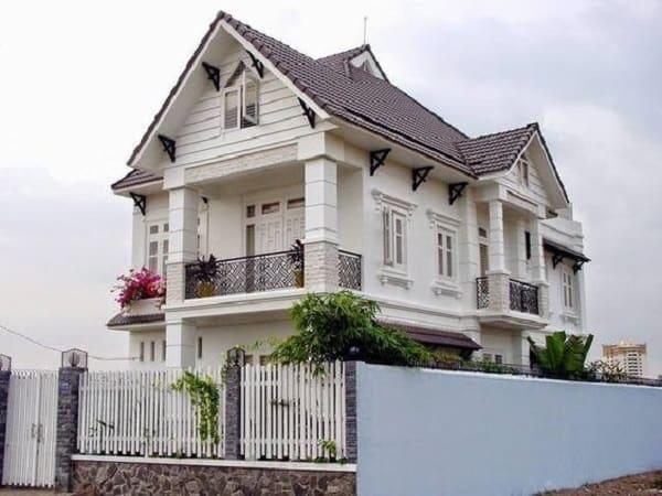 biệt thự tân cổ điển nhẹ nhàng - kiến trúc biệt thự 2 tầng