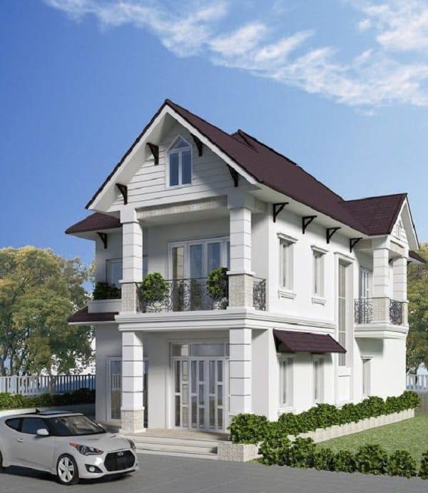 biệt thự 2 tầng thanh lịch với thiết kế tân cổ điển