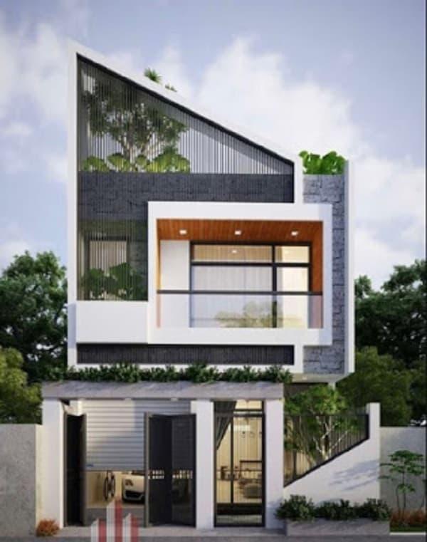 kiến trúc biệt thự đẹp 2 tầng hiện đại