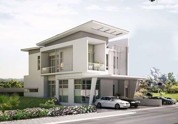 kiến trúc biệt thự hiện đại đẹp 2 tầng