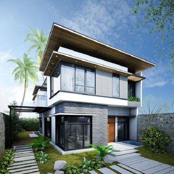 tổng hợp mẫu biệt thự đẹp 2 tầng