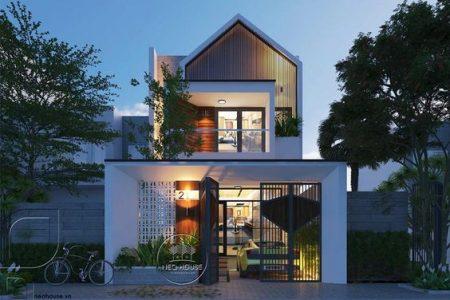 Mẫu nhà phố 2 tầng đẹp thiết kế hiện đại