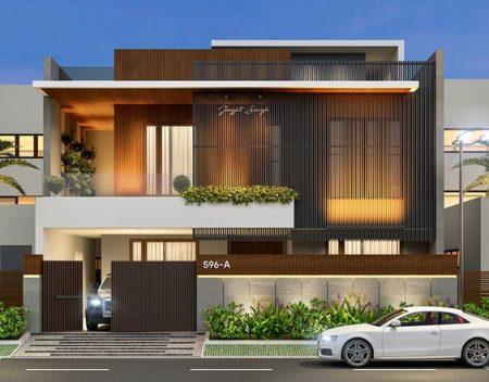 Nhà Biệt thự phố 2 tầng hiện đại
