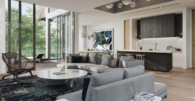 Mẫu phòng khách biệt thự đảo Ecopark thiết kế thi công nội thất nhà mẫu