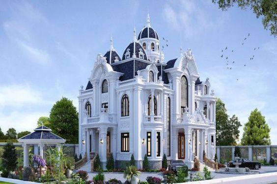 mẫu thiết kế lâu đài biệt thự đẳng cấp