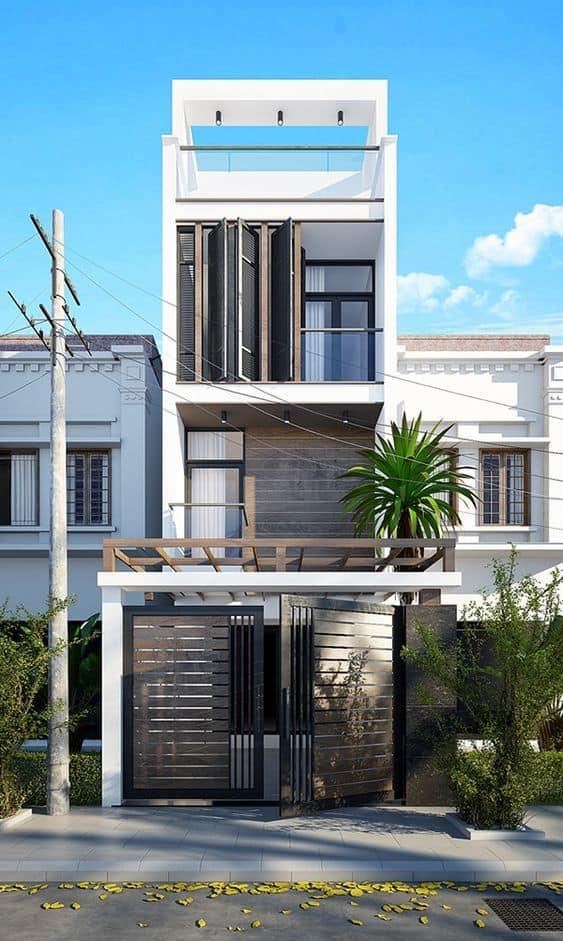 Mẫu thiết kế nhà phố đẹp 2020