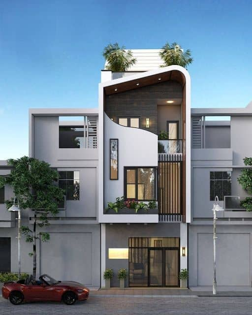 mẫu nhà phố 3 tầng hiện đại đẹp