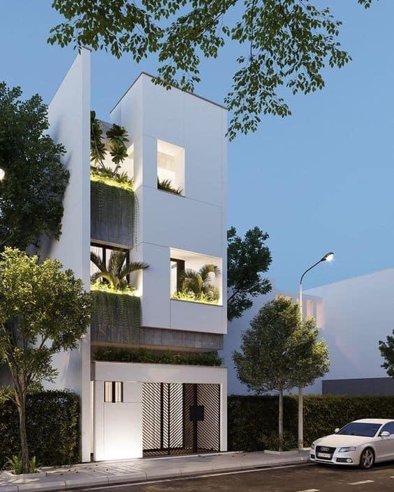 nhà phố có cây xanh 3 tầng