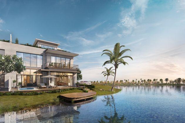 Mẫu biệt thự đảo Ecopark nhìn ra sông, thiết kế kiến trúc nhà đẹp tiêu biểu