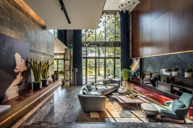 Thiết kế thi công nhà mẫu biệt thự Ecopark - nội thất phòng khách