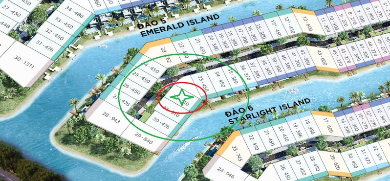 Bản đồ khu biệt thự đảo Ecopark